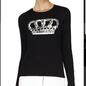 BCBG Max Azria Reversible Crown Pullover Shirt
